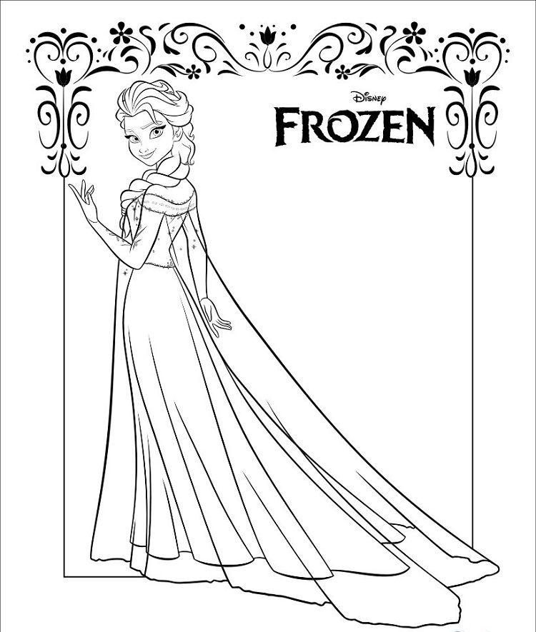 frozen coloring pages elsa in 2019   Frozen coloring, Elsa ...