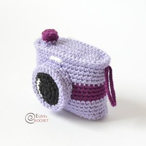 Photo Camera Free Crochet Pattern By Elisa's Crochet #crochetcamera