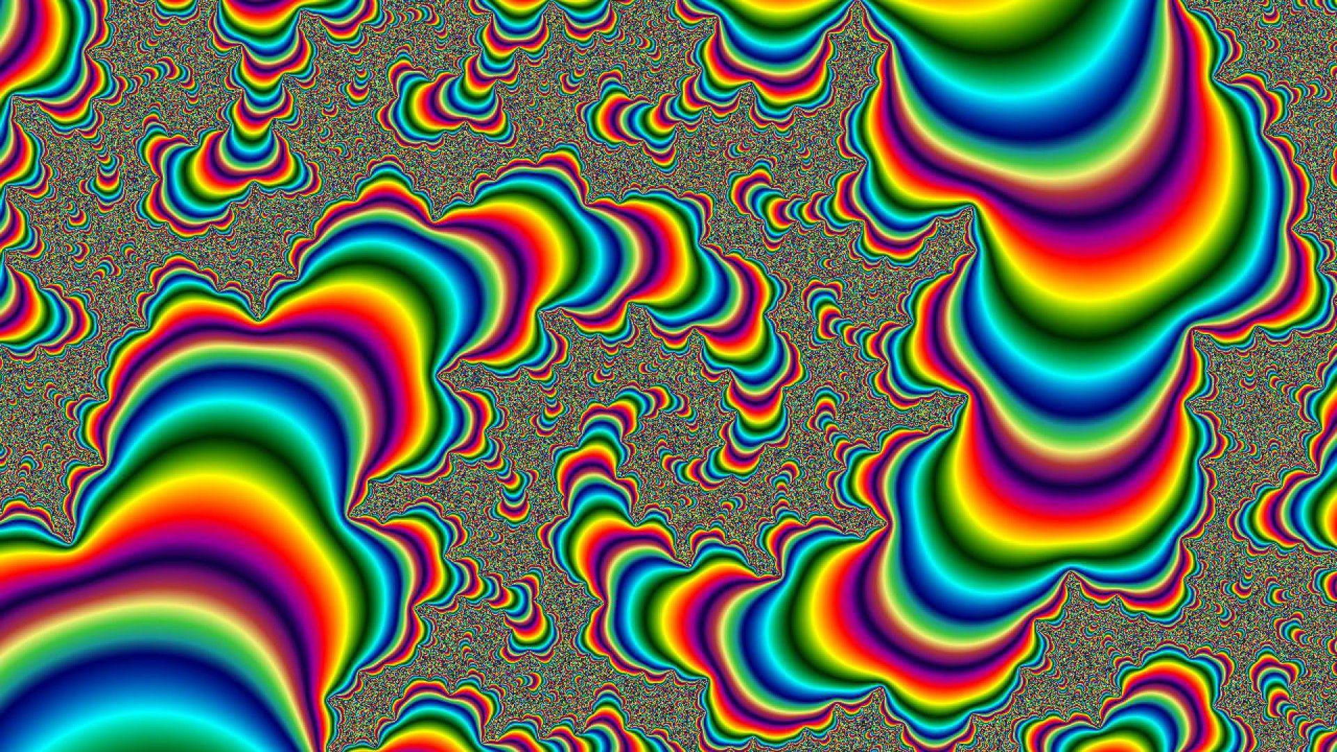 Psychedelic Moving Wallpaper Art psychédélique, Abstrait