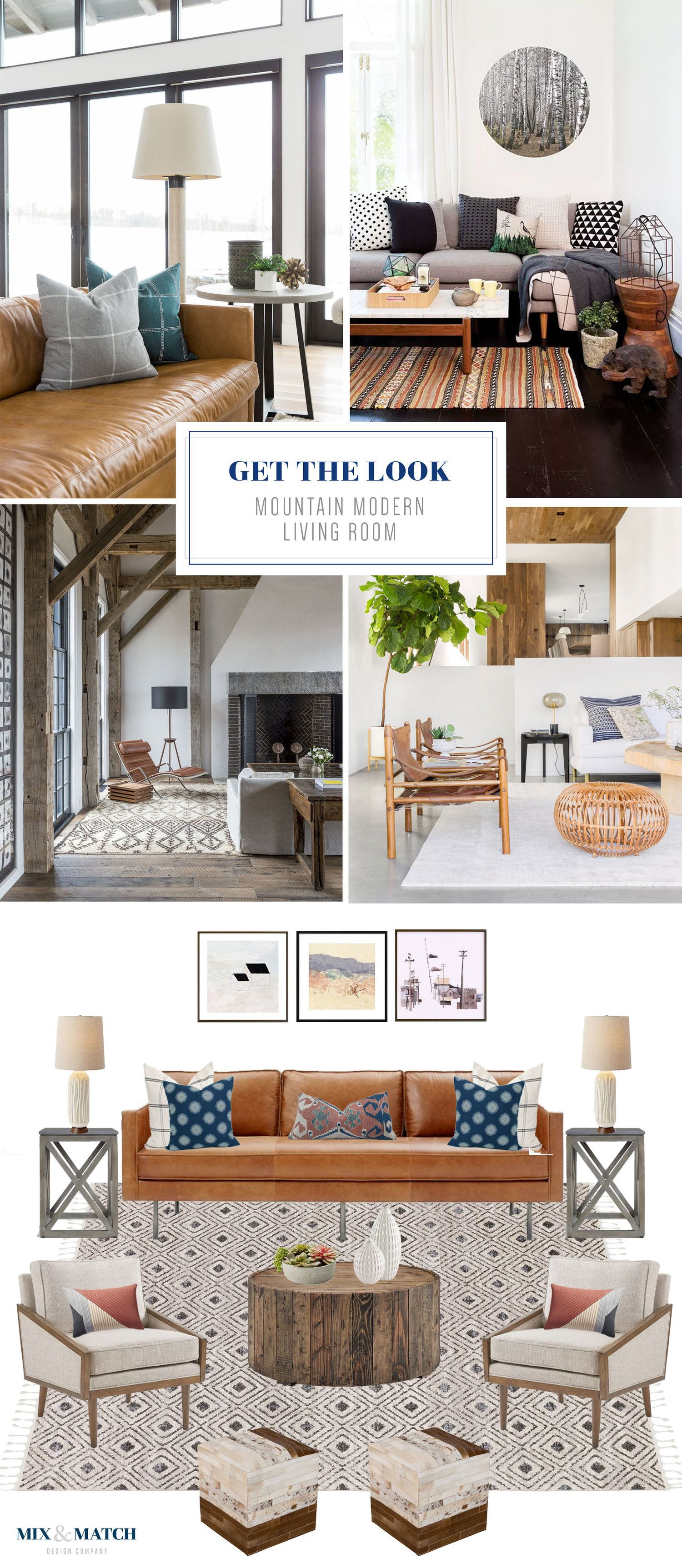 Get The Look Mountain Modern Living Room Mountain Living Room Southwestern Decorating Living Room Modern Living Room #southwestern #style #living #room #furniture