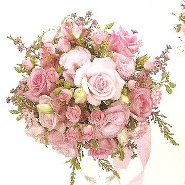 Pink Roses Alstro Lisianthus Mini Carns And Wax Flower Chris Myall