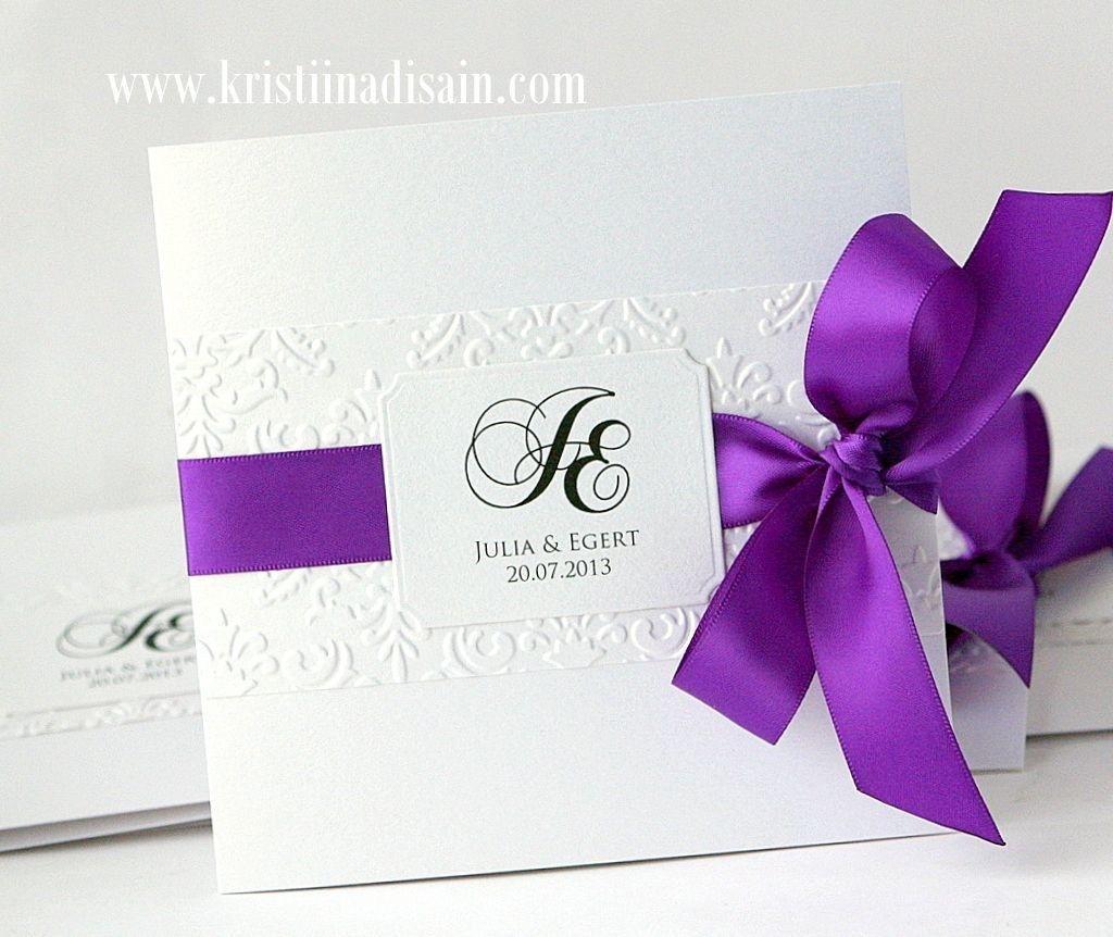 37 Inspiration Photo Of Wedding Invitations With Purple Ribbon