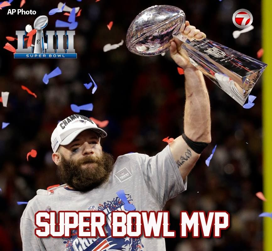 Julian Edelman Had 10 Receptions For 141 Yards And Was Selected As The Super Bowl Mvp Whil With Images New England Patriots Football Patriots Football New England Patriots