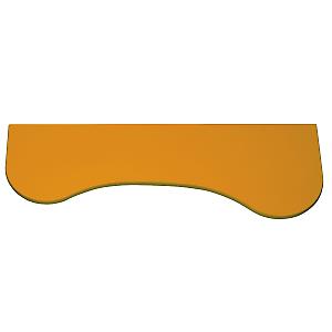 Mensole Ad Angolo Leroy Merlin.Mensola Curvy Arancione 76 X 26 Cm Prezzi E Offerte Online