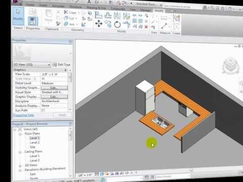 Kitchen Custom Componets Revit Architecture Modeling Custom Components Part 1 Revit Architecture Revit Tutorial Architecture
