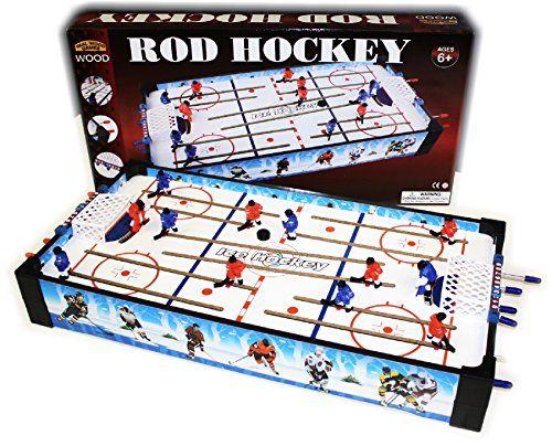 Wooden Mini Tabletop Rod Hockey Game 24 X 122 X 354 Foosball Tables Hockey Games Foosball