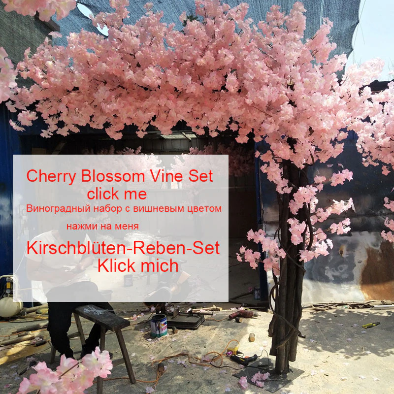 105cm Fake Cherry Blossom Tree Wedding Background Wall Decoration Flow Weddingdecorati Cherry Blossom Tree Artificial Cherry Blossom Tree Blossom Tree Wedding