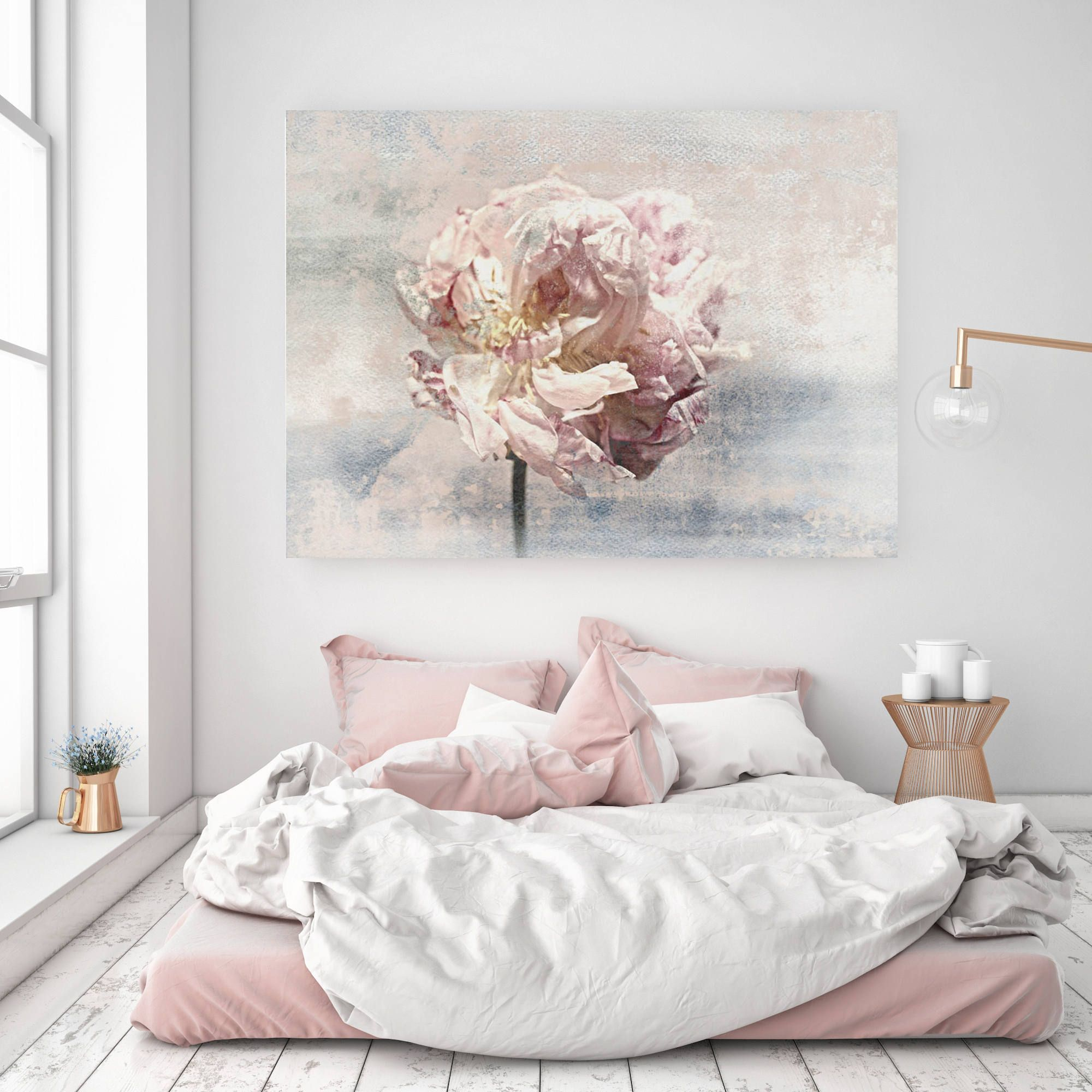 Shabby Chic Floral Canvas Wall Art Peony Canvas Wall Art Etsy Contemporary Art Canvas Pink Abstract Art Trending Decor