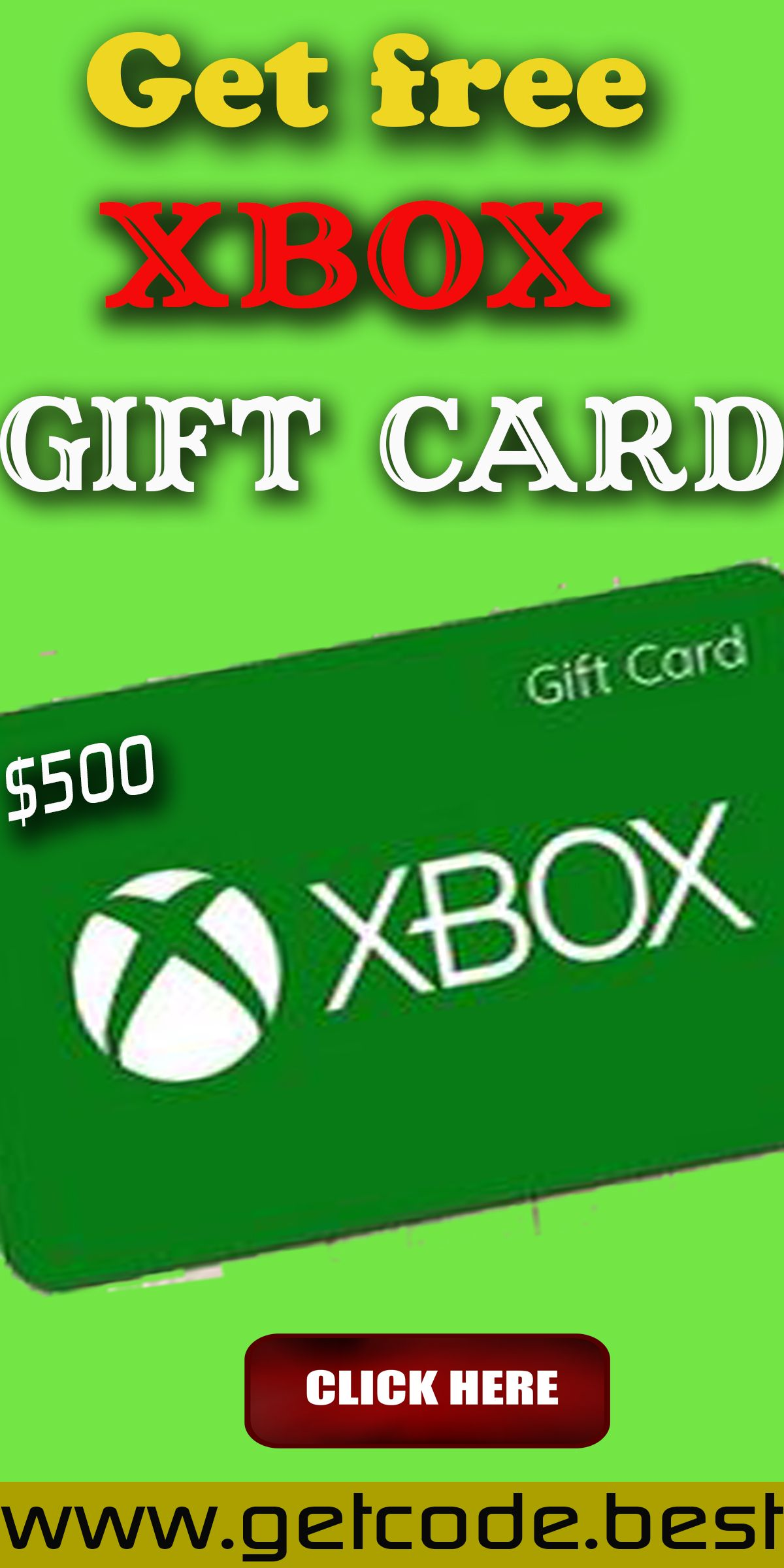 Pin on free xbox gift cards codes