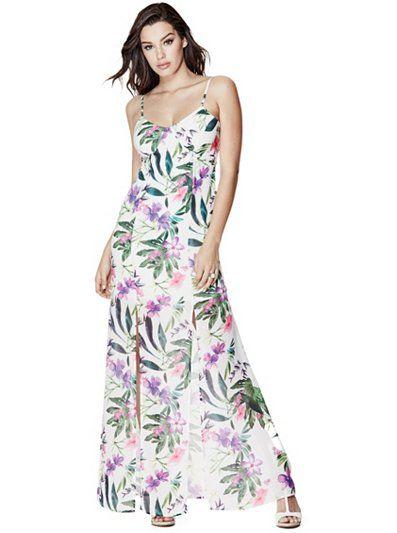 brand new 48cb0 041fd Antoinette Floral-Print Maxi Dress at Guess   vestito lungo ...