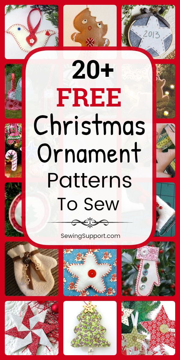24 Free Fabric Christmas Ornament Patterns to Sew