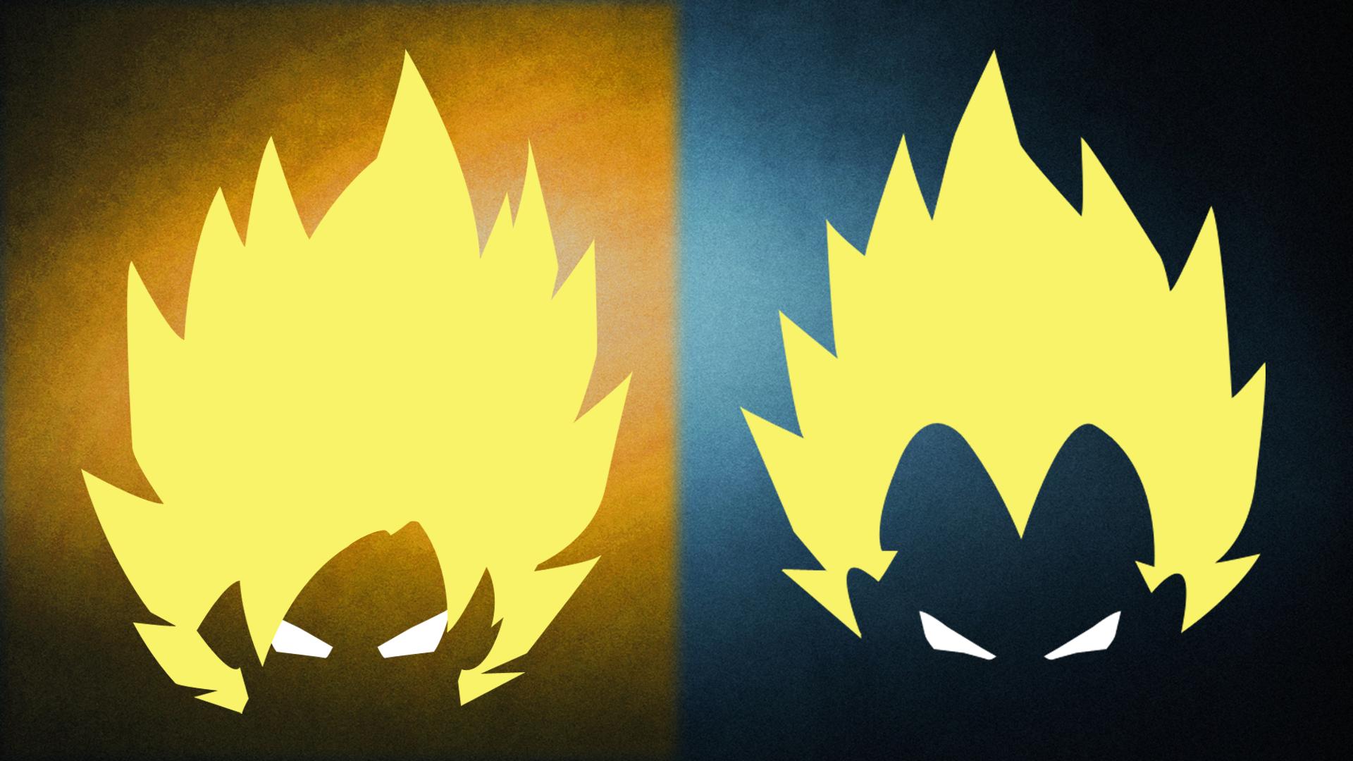 Oc First Ever Attempt At Minimalist Art Goku And Vegeta Dbz Art Minimalist Art Goku Wallpaper