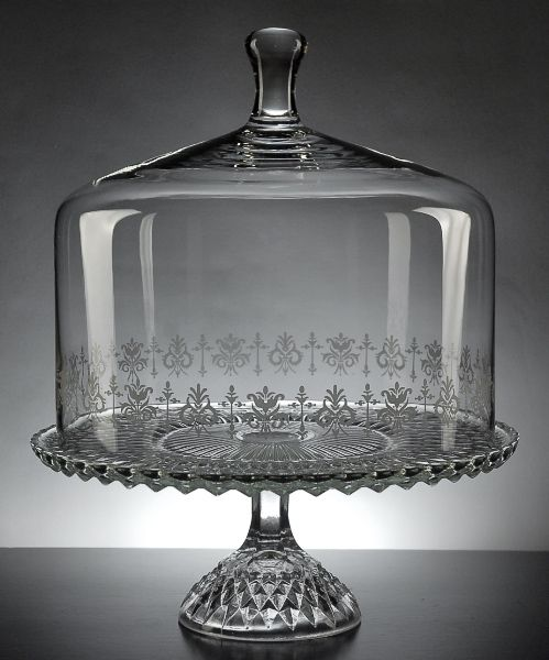 Pedestal Glass Cake Stand with Glass Dome .... Love this!