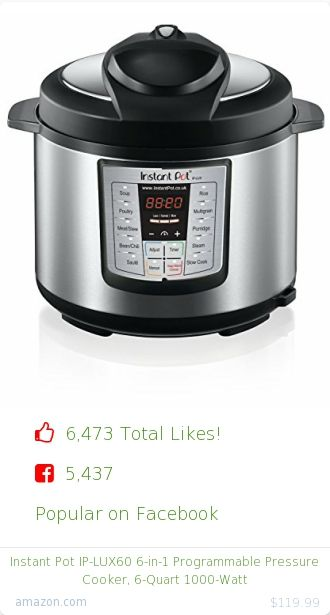 Top christmas gift on Facebook.  5437 people likes on Internet. 5437 facebook likes. instant pot amazon christmas gift. instant pot ip lux60 6 in 1 programmable pressure cooker 6 quart 1000 watt from amazon christmas gifts. http://www.MostLikedGifts.com/top-popular-christmas-gifts/amazom-christmas-gift-B0073GIN08-instant-pot-ip-lux60-6-in-1-programmable-pressure-cooker-6-quart-1000-watt
