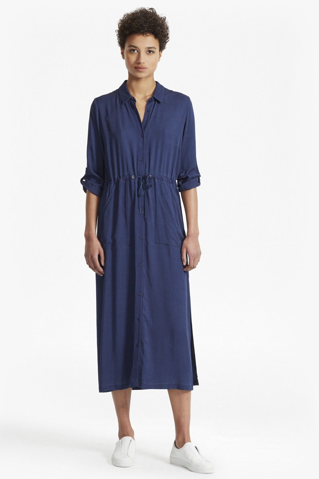 203f7072666 FRENCH CONNECTION ALTMAN V SOLID MAXI SHIRT DRESS.  frenchconnection  cloth