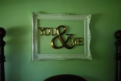 love the framed idea too