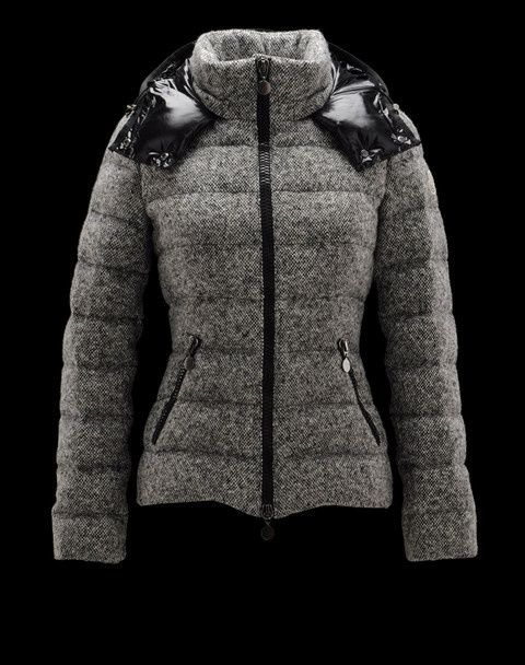 Moncler Down Jacket Women hooded Jackets grey 2139
