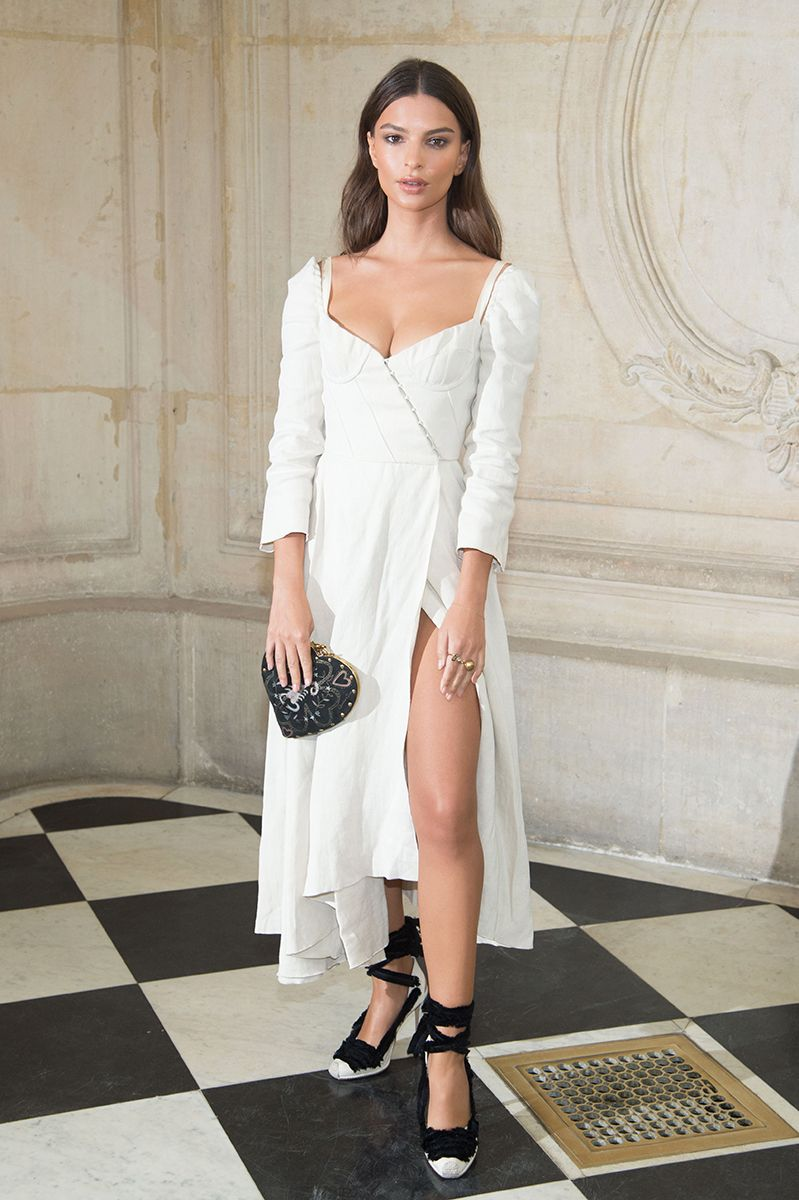 1a98de53d9 In A Brock Collection Dress And Altuzarra Shoes - At Dior s spring 2018 show
