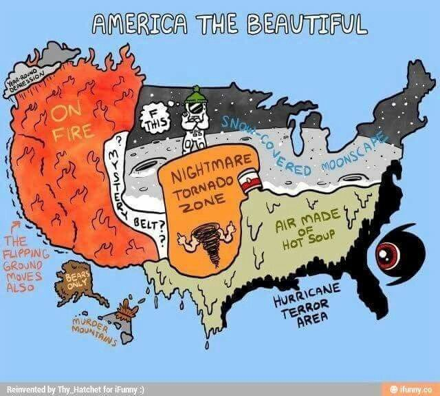 US Weather Map Stereotypical Maps Pinterest - Us stargazing map