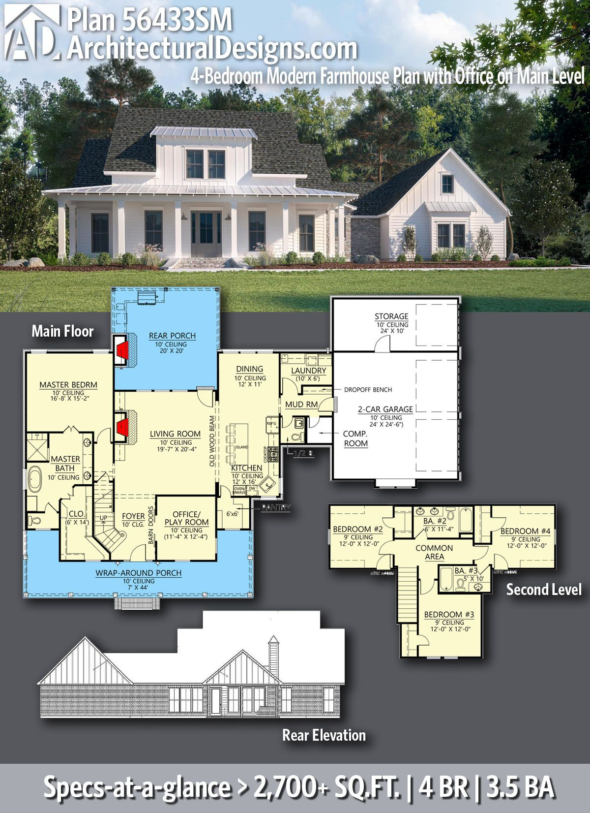 Pin On Farmhouse Home Plans