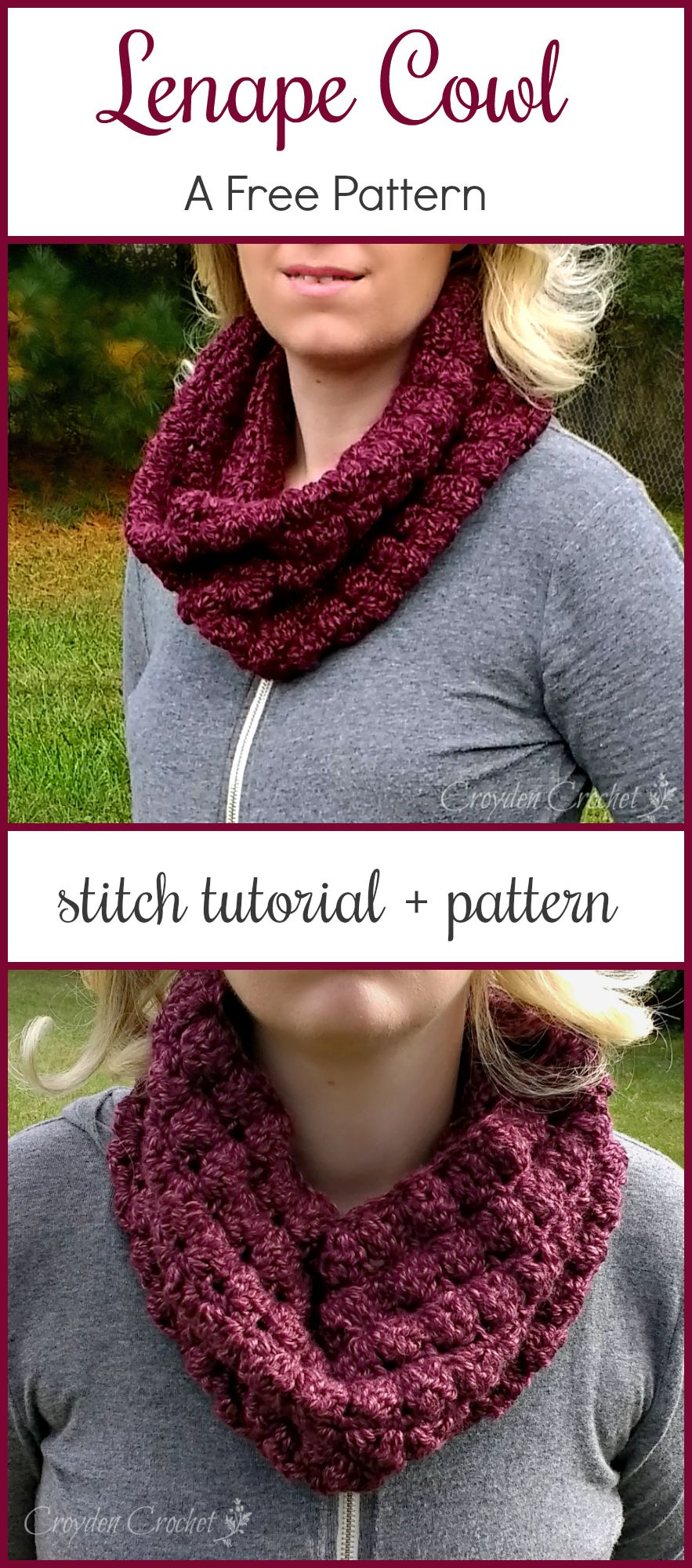 The Lenape Cowl - A free crochet pattern by | Bufandas infinito ...