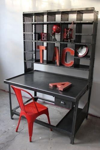 meuble metier grand bureau tri postal industriel atelier loft industrial industrial furniture. Black Bedroom Furniture Sets. Home Design Ideas