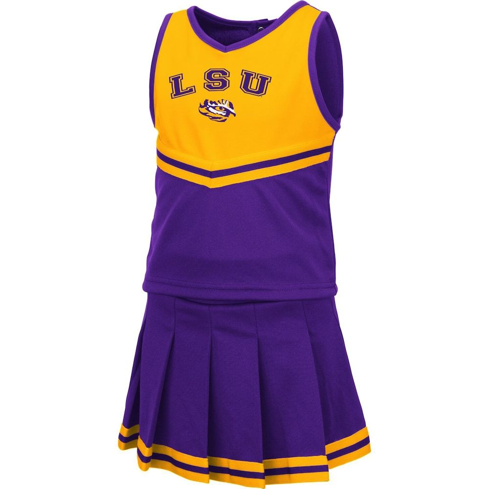 Girls Toddler Colosseum Purple LSU Tigers Pinky Cheer Dress