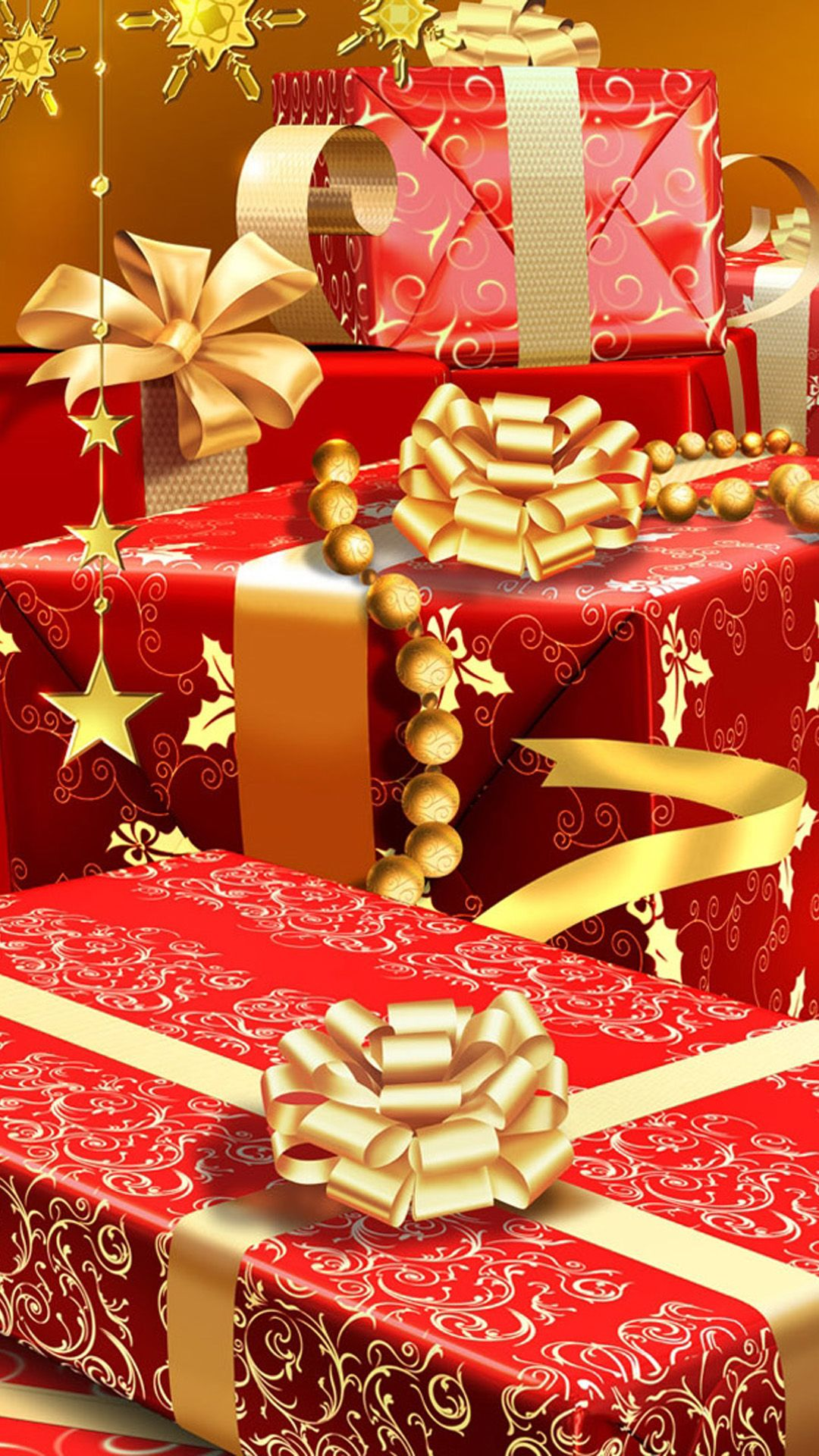 Christmas wallpapers red christmas decorations and gifts on christmas - Rich Christmas Gifts Iphone 6 Wallpaper