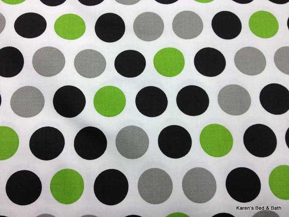 Best Gray Lime Green Dot Fabric By The Yard Hy Giraffe Polka 400 x 300