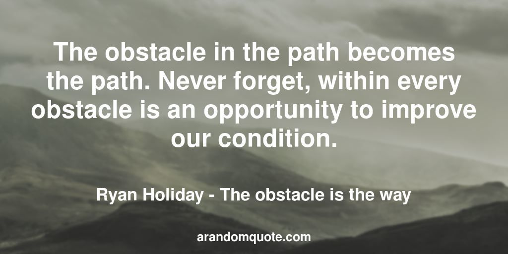 Best Image Quotes From The Obstacle Is The Way Book Image Quotes Quotes Image