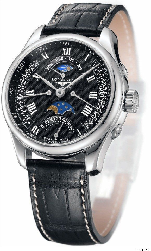 66733b94bdb9e9 Longines Master Collection Retrograde Moon Phases Watch   Watches ...