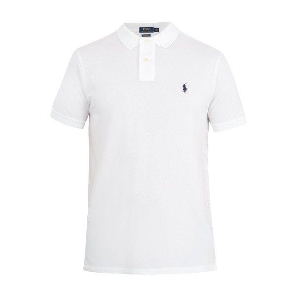 Polo Ralph Lauren Custom slim-fit cotton-piqué polo shirt ($66) ? liked on  Polyvore featuring men\u0027s fashion, men\u0027s clothing, men\u0027s shirts, men\u0027s  polos, men ...