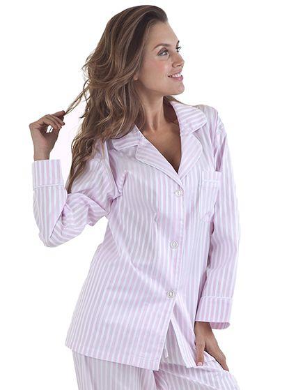 "A classic, fresh style! Bedhead Women's ""Pink 3D"" Striped Cotton Sateen Pajama Set"