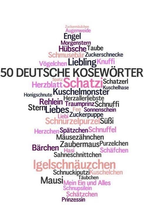 50 Deutsche Kosewörter. Idiomas