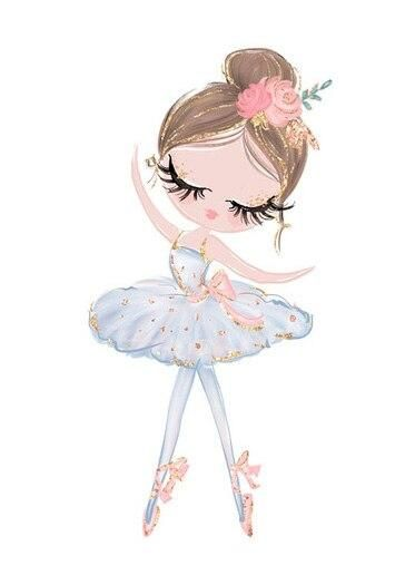 Photo of Cute Cartoon Ballet Dancing Girl Picture Sweet Home Decor Nordic Canvas Painting Wall Art Poster Pink Print for Girl's Bedroom – 13x18cm no frame / J-BLT8889