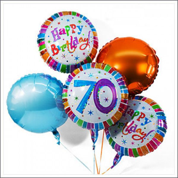 This Balloon Bouquet Let The Birthday Boy Floating In A New Age Keeping With 70th Anniversary Receives Presentee Five Colorful Balloons