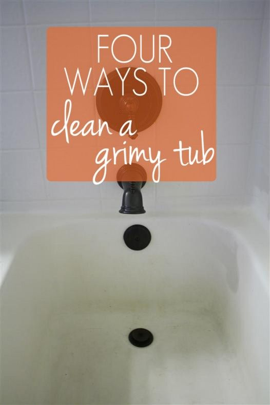 Super Cool Experiment To See The Best Way To Clean A Tub Without Inspiration Best Way To Clean Bathroom Decorating Design