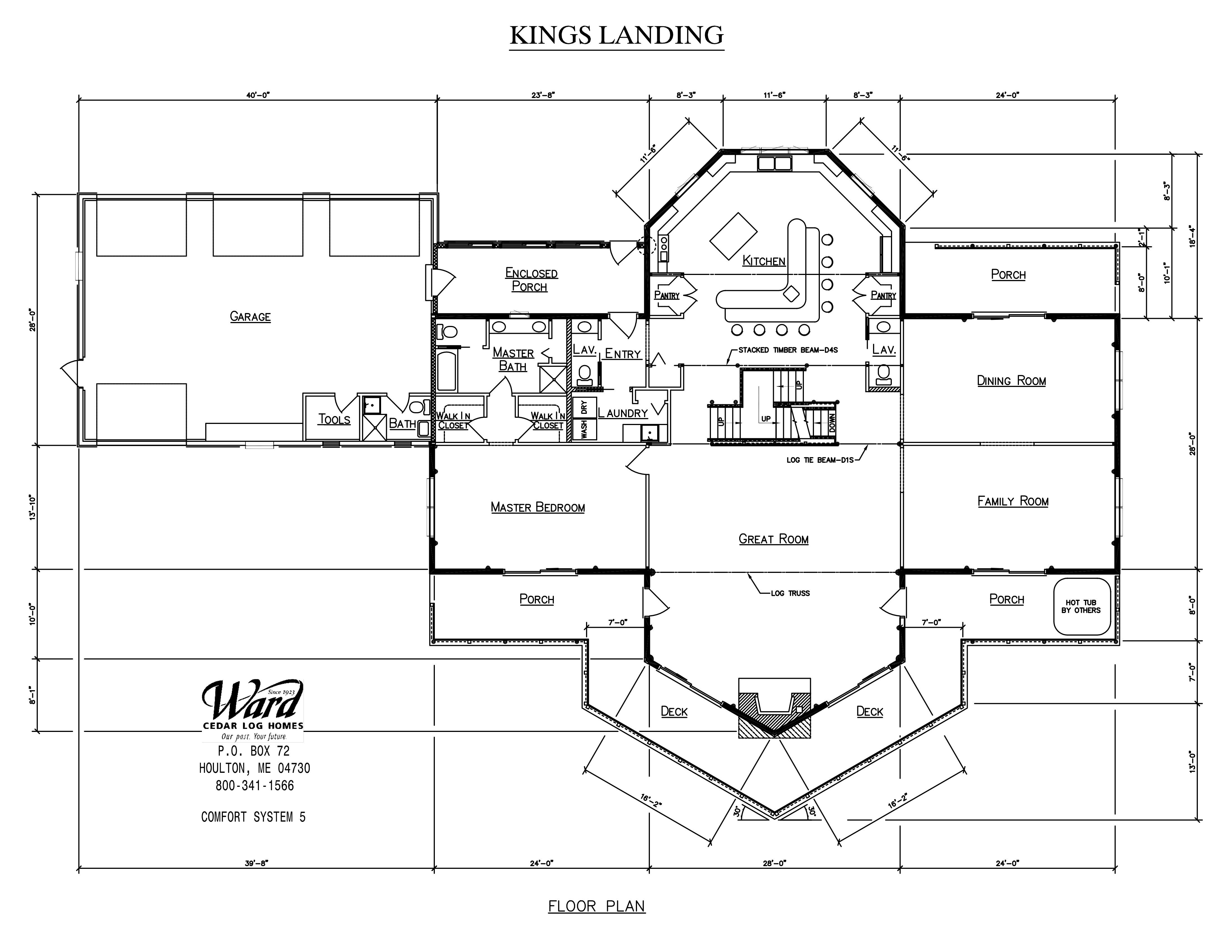Kings Landing floor plan. Download the plan at www.wardcedarloghomes ...
