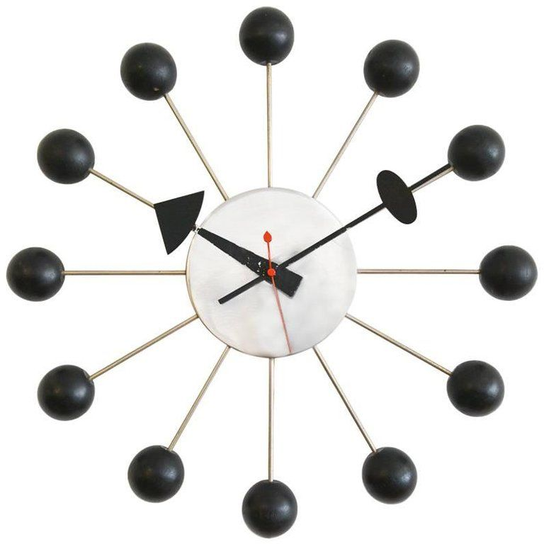 George Nelson For Howard Miller Ball Clock Circa 1965 George Nelson Wall Clock Nelson Ball Clock Nelson Clock