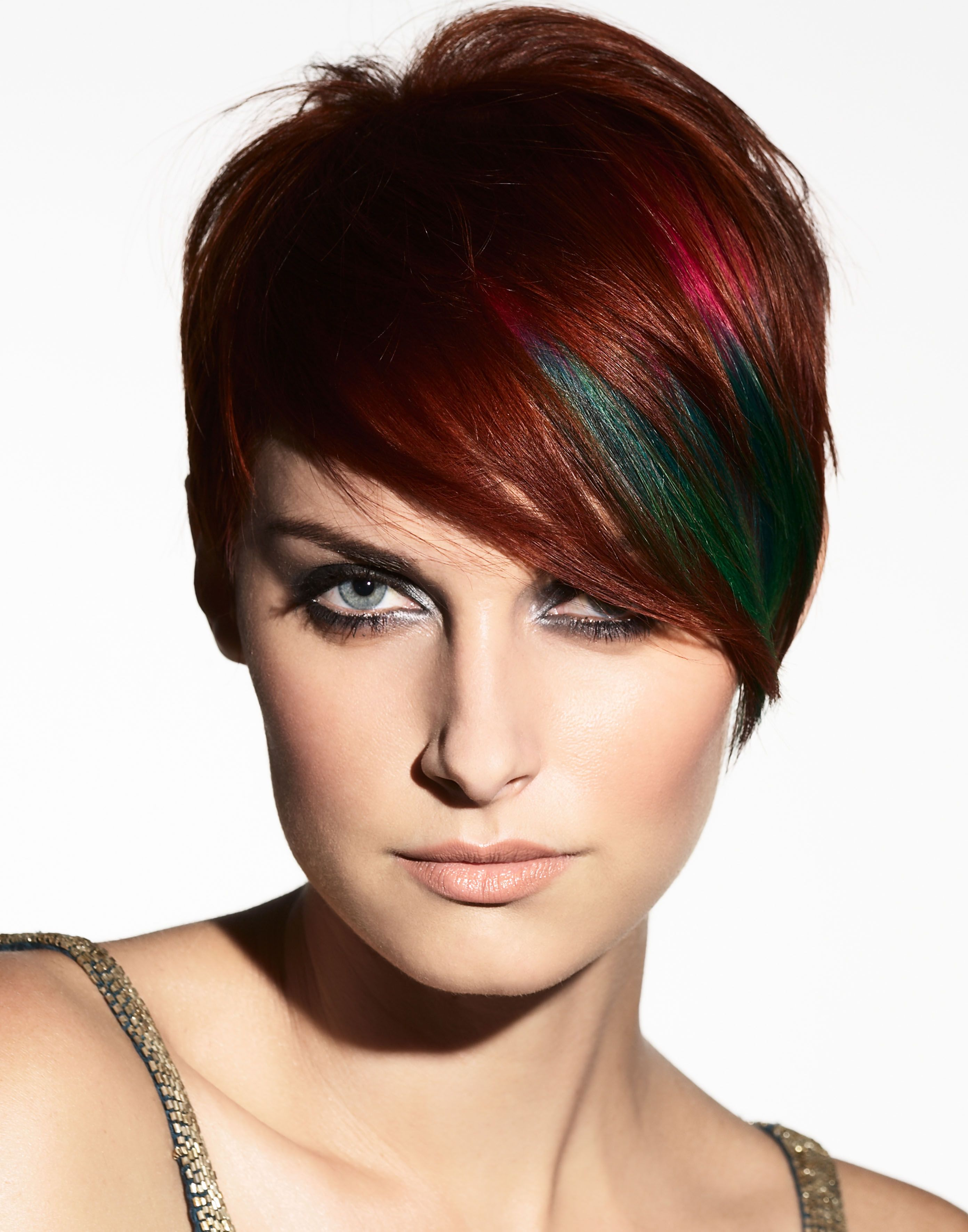 paulmitchell #redhead | short hair | short punk hair, short