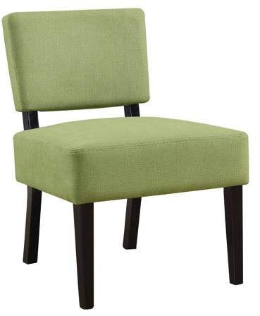 Beige Monarch Specialties Accent Chair Lime Green Fabric