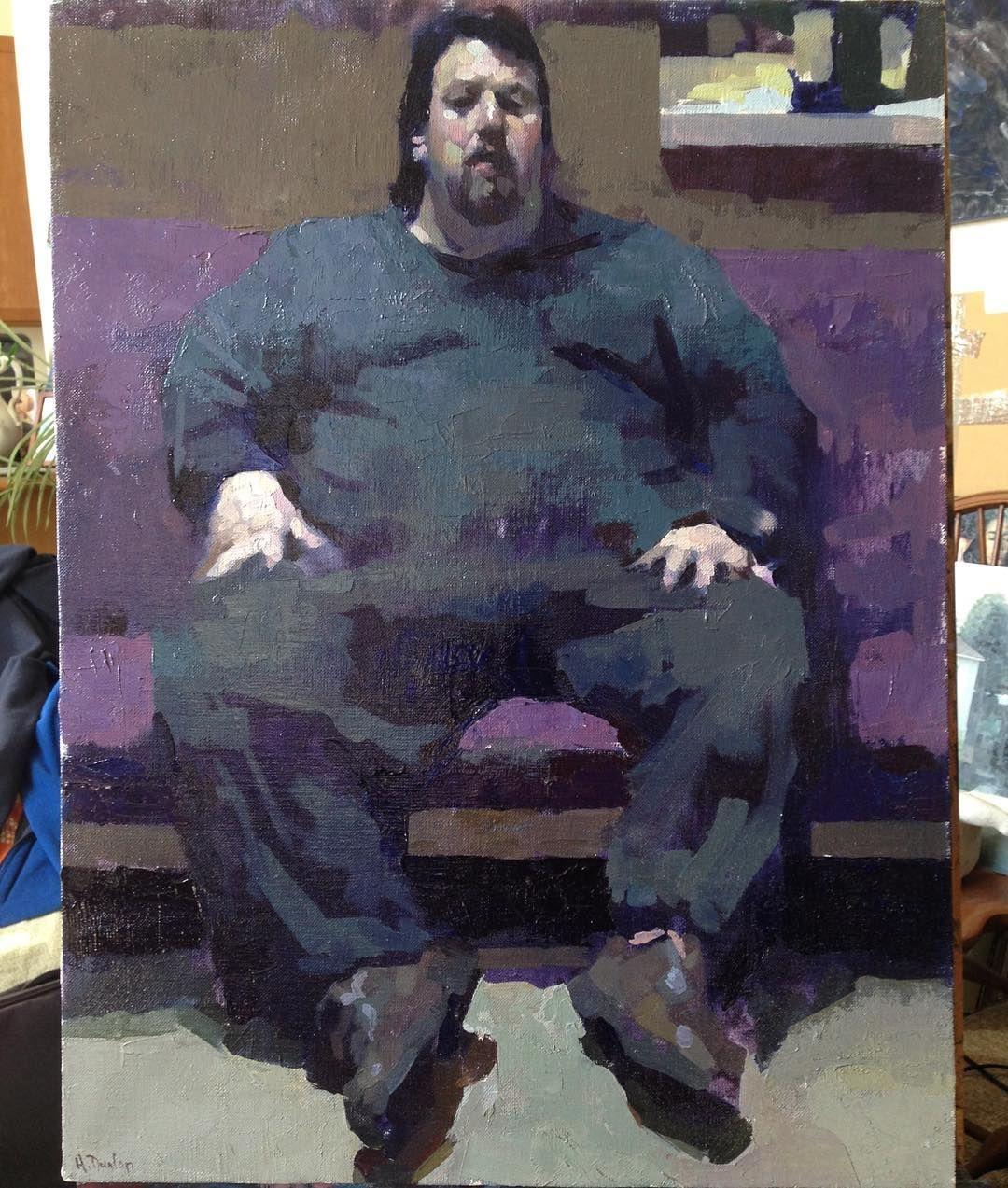 Hollis Dunlap, 'Fred', oil, 18x24.