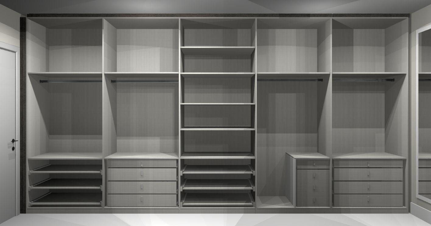 Resultado De Imagem Para Guarda Roupa Planejado Com Espelho  ~ Tamanho Ideal Quarto Casal Closet