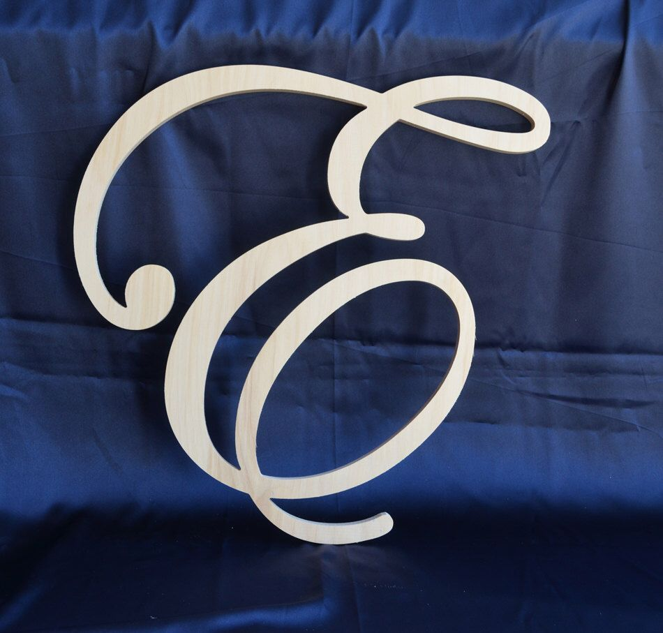 24 Inch Script Cursive Letter Wedding Wall Decor Family Room By Alphabetboutique123 On Etsy