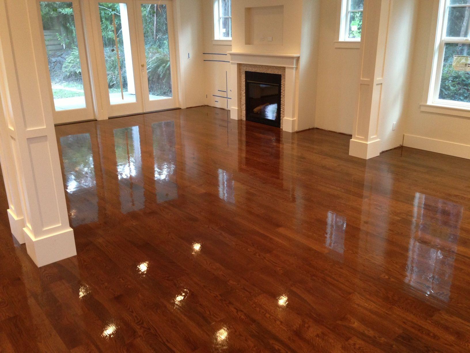 Floor  Very Impressive And Glossy Wood Floor Refinishing