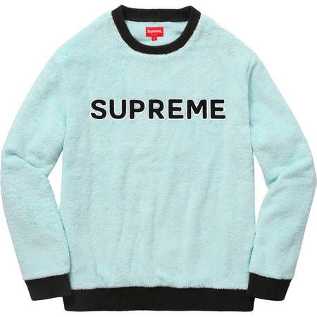 Supreme Light Blue Terry Crewneck Terry Shirts Graphic Tees