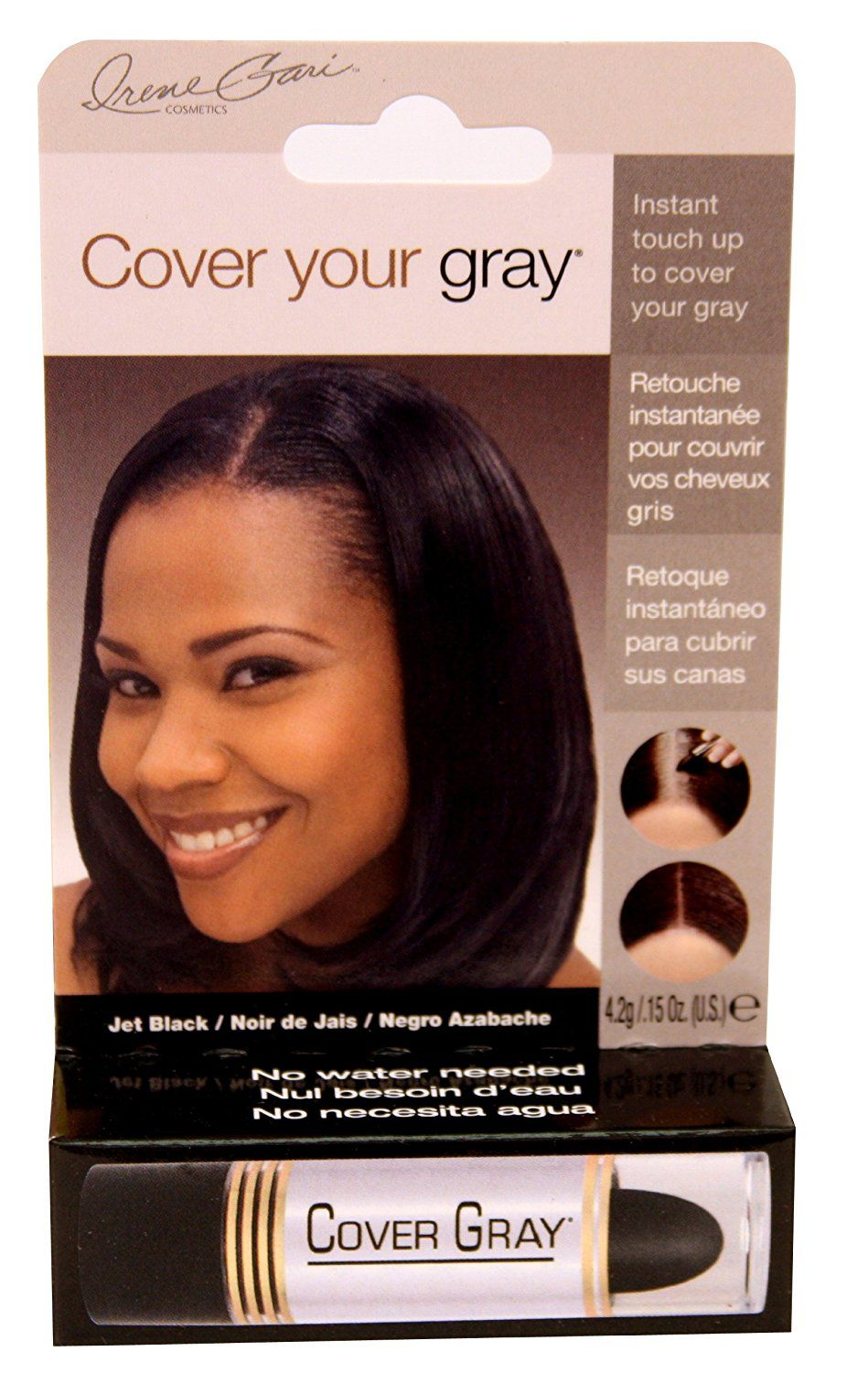 Cover Your Gray Hair Coloring Hair Stick Jet Black Pack Of 2