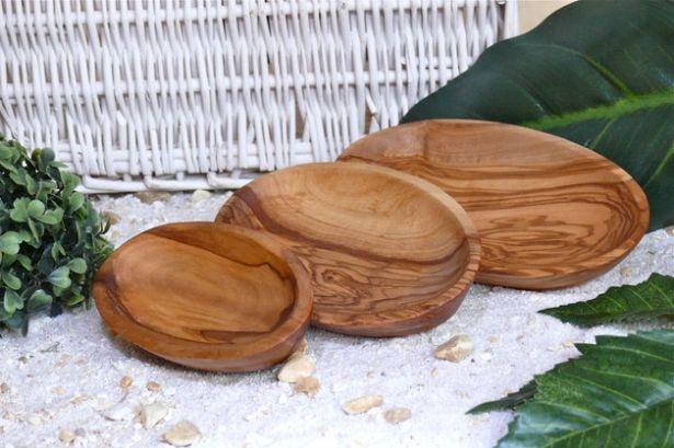 Three Olive Wood Snack & Serving Bowls by Olivenholz-erleben on Gourmly