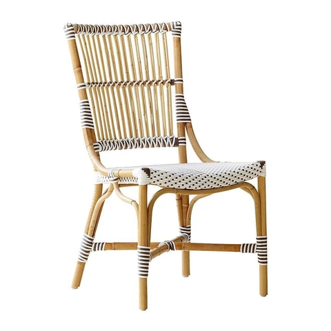 Indoor Outdoor Chairs Heaven S Gate Home Llc The Monique Side Chair Is Made Of Natural Rattan Desi Outdoor Side Chairs Outdoor Chairs Outdoor Dining Chairs