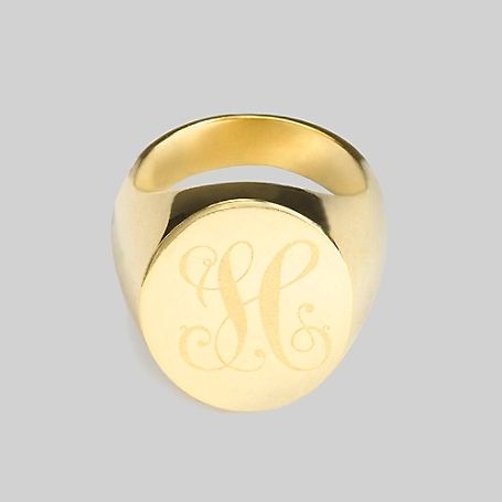 1897303a4 Tommy Hilfiger women's ring. Elegant and traditional, this beautifully  crafted signet ring features our signature H in graceful script. Gold  plated.